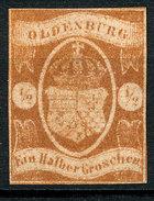 Stamp German States Oldenburg 1861  1/2g  Mint Lot#1 - Oldenburg