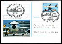 96862) BRD - SoST 7640 KEHL 1 Vom 06.11.1989 Auf PSo 17 - Überschallflug, Concorde - Poststempel - Freistempel