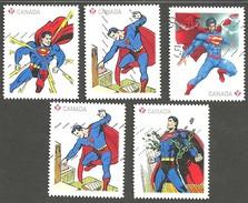 Sc. #2679-83 Superman Set Used 2012 K468 - 1952-.... Règne D'Elizabeth II