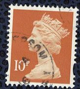 Royaume Uni 2010 Oblitéré Used Série Machin Reine Elizabeth II Orange Brunâtre 10 Penny - Machins