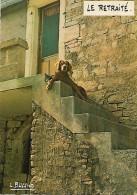 CPM- HUMOUR  -  FRANCE -  Photographe  Louis BUFFIER -  Le Retraité - 1974 . - Humor