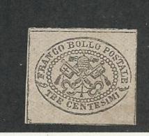 27264 ) Italy 1868 Mint No Gum Glazed Paper - Etats Pontificaux