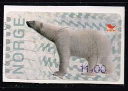 Norwegen 2008, Michel# ATM13 O Polar Bear (Ursus Maritimus) - Vignette Di Affrancatura (ATM/Frama)