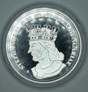 "Hongrie Hungary Ungarn ROYAL CROWNS "" ISTVAN II "" 5 Korona 1909 REPLICA Médaille SILVER - UNC / PP With Certificate - Hongrie"
