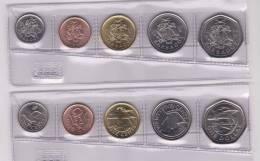 BARBADOS  Set/Tira 5 Monedas/Coins  2.008/09   SC/UNC       DL-9583 - Barbades