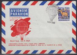 Yugoslavia 22.IX.1967 First Baloon Airmail - Novi Sad, Cover - 1945-1992 Sozialistische Föderative Republik Jugoslawien