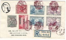34773 ) Canada Newfoundland Railway TPO Postmark Cancel Burgeo Registered Barrel - 1908-1947