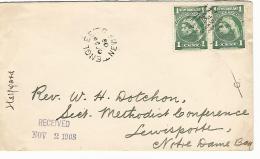 34781 ) Canada Newfoundland Railway TPO Postmark Cancel Englee Notre Dame Bay  Lewisporte - 1908-1947