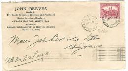 34784 ) Canada Newfoundland Railway TPO Postmark Cancel John Reeves Via Coastal North - 1908-1947