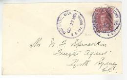 34813 ) Canada Newfoundland Railway TPO Postmark Cancel Notre Dame Bay No Bastamp N64 1929 - 1908-1947