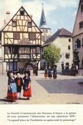 Illustration Du Calandrier 1959 Des Potasses D'Alsace - La Grand Place De Turckheim (68 - Haut Rhin) Folklore - Imp Tari - Turckheim