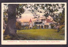 Old Postcard Of Schlob Dolzi,Sommerfeld, Oberhavel, Brandenburg, Germany.,Posted With Stamp,N53. - Sommerfeld