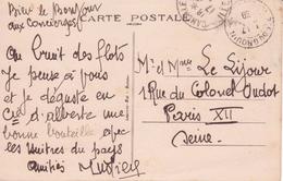 Ille-et-Vilaine Cachet Sémaphore POINTE DU GROUIN 1939 RR! CP Concordante En Franchise Militaire (2 Scans) - Handstempel