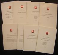 Suisse Lot De 8 Livrets Avec Timbres Des Années 1962 à 1983, Voir Photos Pour Le Détail - Suisse