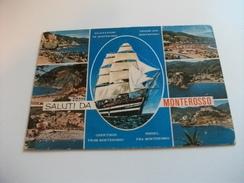 NAVE SHIP VELIERO AMERIGO VESPUCCI SALUTI DA MONTEROSSO VEDUTINE LIGURIA - Zeilboten