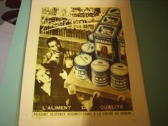 PUBLICITE BANANIA ALIMENT DE QUALITE - Plaques Publicitaires