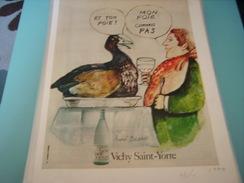 ANCIENNE PUBLICITE TON FOIE VICHY SAINT YORRE 1970 - Posters