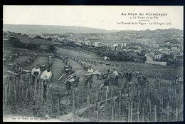 Cpa Du 51  Au Pays Du Champagne -- La Vigne Et Le Vin -- Le Travail De La Vigne - Le Fichage - Reims   NCL15 - Reims