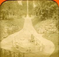 Allemagne Aachen Aix La Chapelle Source Louise Ancienne Photo Stereo Tissue 1870 - Photos Stéréoscopiques