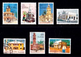 Australia 1982 Historic Post Offices Set Of 7 Used - - - Used Stamps