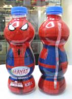 AC - SPIDERMAN MARVEL COMICS - HAYAT WATER EMPTY PLASTIC BOTTLE & CAP - Autres Bouteilles