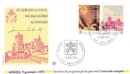 Vatikan, 1993, Frieden In Europa . Mi 1079 Mit Zierfeld,  FDC - Lettres & Documents