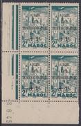 Maroc N° 238 : Timbre Surchargé En Bloc De 4 Coin Daté Du 8 . 6 . 45 ; 3 Points Blancs, Sans Charnière, TB - Morocco (1891-1956)