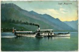 Q.664.  Lago Maggiore - Piroscafo Italia - 1911 - Italië