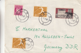 Norvège - Lettre De 1962 - Oblitération Hegra - Sport - Lancement Du Javelot - Noorwegen