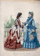 Lot De 13  Gravures  : Revue De La Mode  1872 - Stampe & Incisioni
