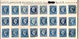 FRANCE - Variétés Sur Le 20 C. - 1853-1860 Napoleone III