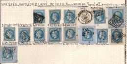 FRANCE - Variétés Sur Le 20 C. Dont Une Corne - 1863-1870 Napoleone III Con Gli Allori