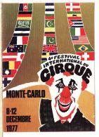 Mnc001 Monaco 4eme Festival International CIRQUE MONTE CARLO 8-12 Décembre 1977 Clown - CPM Toilee CIGOGNE - Mónaco