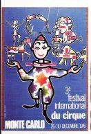 Mnc002 Monaco 3e Festival International CIRQUE MONTE CARLO 26-30 Décembre 1976 Clown  - CPM Toilee CIGOGNE - Mónaco