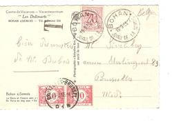 TP 851 S/CP De Bohan S/Semois C.touristique Bohan (Joyau De La Semois) 19/9/55 Griffe T V.BXL Taxée 1,20 Frs Par TTx 40 - Lettres