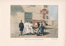 1880-90 Cliché Chromophotographique DJEDDAH, Port De LA MECQUE( Palanquin Pour Pélerins). Format Total : 23,50/32cm