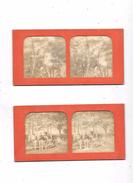 Lot De 2 Cartes Stéréoscopiques : Scènes Agricoles, - Stereoscopische Kaarten