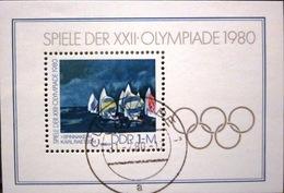 Allemagne République Démocratique - BF 58 Oblitéré - Jeux Olympiques Moscou 1980 - Blocs