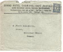 PAYS BAS DEVANT DE LETTRE A EN TETE DE AMSTERDAM POUR LA FRANCE DU 25/7/1923 - Postal History