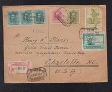 1929.- MADRID A USA.   FRONTAL DE CARTA - Cartas