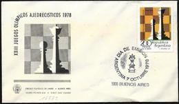 Argentina/Argentine: FDC, Olimpiadi Degli Scacchi, Olympiade D'échecs, Chess Olympiad - Scacchi