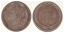 King George IIII Half Crown Silver 1823 - 1816-1901 : Frappes XIX° S.