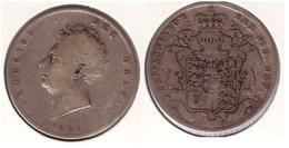 King George IIII Half Crown Silver 1826 - 1816-1901 : Frappes XIX° S.