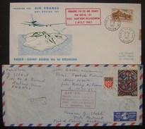 France Lot De 2 Enveloppes Premier Vol Des Années 1960 Boeing 707, Voir Photo Pour Le Détail - Airmail