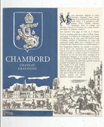 Publicité , Château De CHAMBORD , 6 Pages ,22.5  X 10.5 , Illustrateur : H. Baille , Frais Fr : 1.55€ - Folletos Turísticos