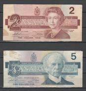 CANADA - 1986 - 2+5 Dollari - Banconote In Condizioni BB - Canada