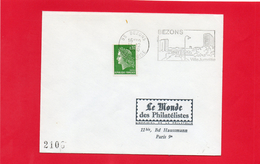 Flamme  BEZONS ( Ville Jumelée ) - Marcophilie (Lettres)