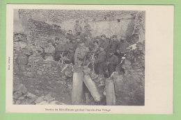 Section De Mitrailleuses Gardant L'Entrée D'un Village. Mitrailleuse. 2  Scans. Edition Brod - Guerre 1914-18