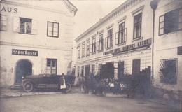 Grein-Sparkasse-R.Blumauer Hotel Goldenes Kreuz-Oldtaimer Auto. - Austria