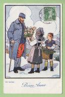 Bonne Année Aux Blessés. En Suisse. 2  Scans. Edition Jaeger - Guerre 1914-18